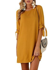 8b97d215d YOINS - Vestido - para Mujer Amarillo 46 EU X-Large Vestidos De Mujer