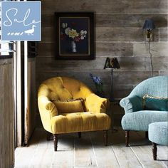 The Fitzrovia petite accent chair shown here in grade A mustard velvet