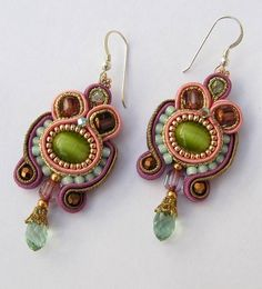 Green soutache earrings by Cielo Design, via Flickr