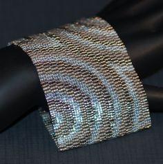 Gorgeous peyote cuff bracelet