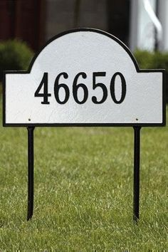 Arch One-Line Estate Lawn Address Plaque - estate/one line, White by Home Decorators Collection. $150.00. Arch One-Line Estate Lawn Address Plaque - It's Your Own Little Corner Of The World - So Why Not Mark It With Pride? A House Sign Announces A Message Of Distinction. These Premium, Textured And Dimensional Address Plaques Are Designed With Large Letters And Numbers For Maximum Visibility. Choose From Our Exceptional Array Of Custom Address Plaques To Find The House Sign ...