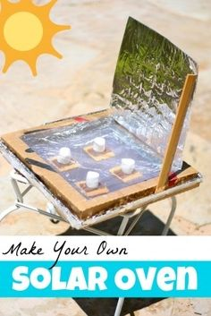 Make Your Own Solar Oven Tutorial! What a easy, thrifty, fun activity. This would be perfect for a lesson on predicting! Make Your Own Solar Oven Tutorial! What a easy, thrifty, fun activity. This would be perfect for a lesson on predicting! Kid Science, Summer Science, Summer Activities For Kids, Science Fair, Summer Kids, Learning Activities, Kids Fun, Science Tricks, Chemistry Experiments