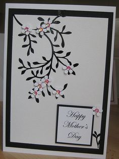Handmade mothers day card- I can see this in many colour combos                                                                                                                                                                                  More