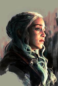 Game of Thrones fan art to take the edge off the new episode waiting - The Designest Dessin Game Of Thrones, Game Of Thrones Drawings, Arte Game Of Thrones, Game Of Thrones Artwork, Game Of Thrones Fans, Daenerys Targaryen Art, Khaleesi, Jon Snow Targaryen, Game Of Thrones Personajes