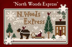 North Woods Express ~ 5 skeins of Classic Colorworks floss with free Little House Needleworks chart