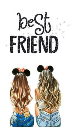 Me pin cute bff s go to disni Best Friend Sketches, Friends Sketch, Best Friend Drawings, Bff Drawings, Drawing Of Best Friends, Bff Pics, Cute Bff Pictures, Photos Bff, Best Friends Cartoon