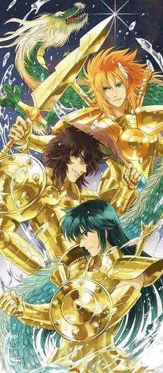 Cavaleiros de Libra : Genbu, Doko, Shiryu