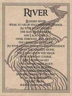River Prayer Parchment Page for Book of Shadows!  pagan wicca witch