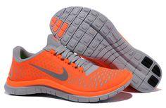 Nike Free 3.0 V4 Total Orange Reflective Silver Pro Platinum Women's Shoes - Click Image to Close