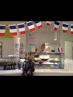 French themed deli bar...
