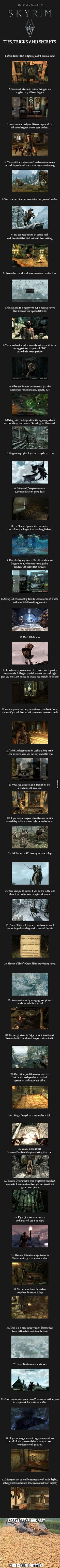 40 dicas e truques de skyrim. De nada. 40 tricks and secrets about skyrim. U r welcome.