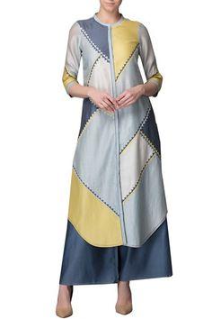 Kurtas and Sets, Clothing, Carma, Pale Blue Kurta With Palazzo ,  ,