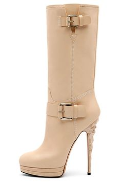 Casadei Nude Stiletto Heel Boots Fall Winter 2010 #Shoes #Heels