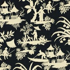Crystal Lake Midnight by Robert Allen Designer Fabric Pewter Tourmaline Bluebell Linen, Rayon China see sample Horizontal: 27 inches and Vertical: 27 inches 55 inches Swanky Fabrics Fabric Design, Pattern Design, Textile Design, Chinoiserie Fabric, Chinoiserie Chic, Robert Allen Fabric, Love Sewing, Learn Sewing, Sewing Tips