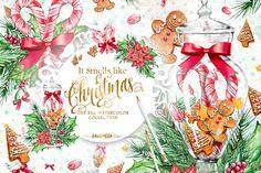 Traditional Christmas Clipart by Karamfila on @creativemarket