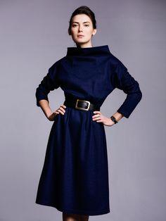 Robert Kalinkin High Waisted Skirt, Dressing, High Neck Dress, Street Style, Lithuania, Elegant, My Style, Simple, Creative
