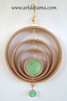 One-Of-A-Kind Maple Wood Hoop Earrings with Semi-Precious Stone Chrysoprase and Gold Wire. One-Of-A-Kind Maple Wood Hoop Earrings with Semi-Precious Stone Chrysoprase and Gold Wire. Wood Earrings, Big Earrings, Tama, Sunflower Necklace, Delicate Jewelry, Gold Wire, Minimalist Jewelry, Hoop, Earthy