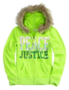 Jusice winter stuff for girls  | ... With Faux Fur Hood | Girls Sweatshirts Clothes | Shop Justice