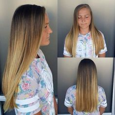 First time coloring her hair for this cutie @micas_24!  kirsten did a super soft golden ombre, kept it very natural looking, almost like the sun bleached it! Come see Kirsten at @seasonssalonanddayspa for your first time ombre  #virginhair #notanymore #ombre #firstombre #soproud #hairlove #haircolor #ombrelove #longhair #longhairdontcare #beautifulhair #utahhair #blondehair @kiki_mamma