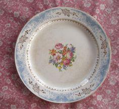 Antique Dishes Homer Laughlin | Homer Laughlin Vintage China Plate Platter Blue Gold Border