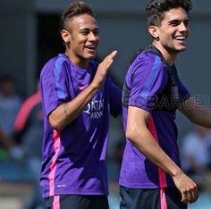 The cuties ⚽️ #NeymarJunior #MarcBartra
