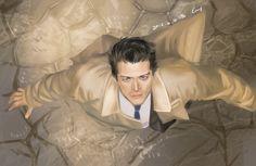 Castiel looking to heaven SPNandSherlock: Photo Supernatural Drawings, Supernatural Fan Art, Castiel Aesthetic, Decimo Doctor, The Boy Is Mine, Destiel Fanart, Misha Collins, Best Tv, To Youtube