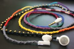 DIY: Wrapped Earphones