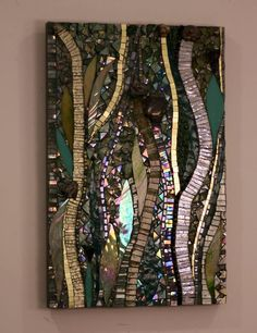 """Have you seen all the hand cut glass #mosaic art panels that have recently been added to my website?  Go here to see:  http://www.mosaicsbyariel.com. All rights reserved, Ariel Finelt Shoemaker, 2013.  For more about my work, go here:  http://www.mosaicsbyariel.com.  Measures 13"""" x 20""""  To see this piece live through August 15 or to inquire about purchasing, look here at #yorkshowhouse http:oldyork.org  ."""