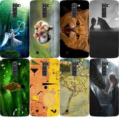 "For coque LG K7 5.0"" Colorful Oil Painting Hard Plastic Case For LG Tribute 5/LG K7 M1 Cute Anime Case Cover For LG K7 M1 Case #Affiliate"