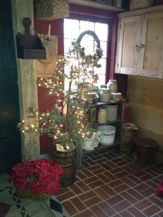 country christmas decorating   Kitchen christmas decorating .....   Country Christmas
