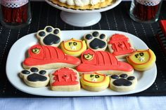 Cookies at a Fireman Birthday Party #fireman #partycookies