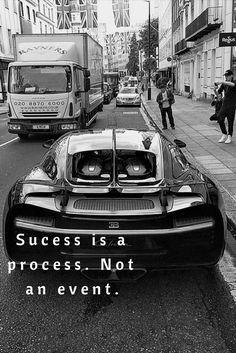 Quotes for sucess. Billionaires lifestyle. Expensive car. Bugatti.
