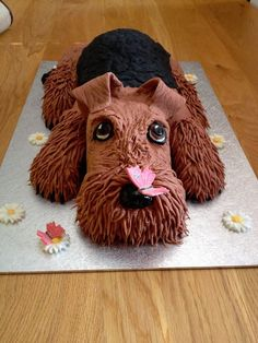 Airedale Terrier Birthday Cake