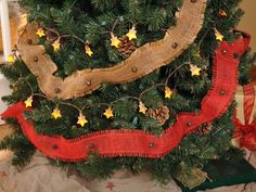 On our November 2013 cover: Natural and red burlap jingle bell garland from Glory Days Mercantile, $14.95 per 6-foot strand