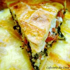 Torta de Espinafre com Linguiça #Receitassalgadas