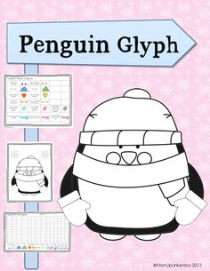 Simple fun Penguin Coloring Glyph to use in centers or as a whole class activity. Class Activities, Winter Activities, Kindergarten Activities, Teaching Math, Math Resources, Teaching Ideas, Holiday Classrooms, Classroom Ideas, Penguin Coloring