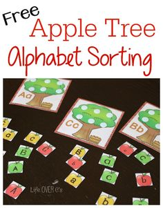 apple tree alphabet sorting free printable