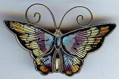 David Andersen Vintage Norway Sterling Silver Multi Color Enamel Butterfly Pin | eBay