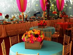 love the light blue with the bright pinks and oranges