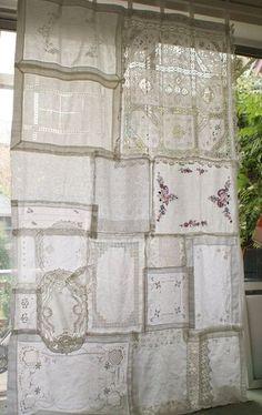 Vintage Lace Patchwork Zigeuner Vorhang von CircleOfEarth auf Etsy