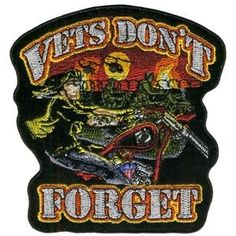 Hot Leathers 12 inch Patch - Vets Dont Forget - PPA2767