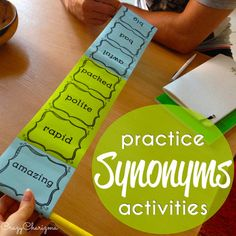 Synonyms Activities - 11 variants of practice Teaching Synonyms, Synonyms And Antonyms, Teaching Grammar, Teaching Tips, Synonym Activities, Early Finishers, Elementary Education, Word Work, Second Grade