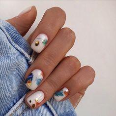 Stylish Nails, Trendy Nails, Casual Nails, Manicure Y Pedicure, Gel Nails, Manicure For Short Nails, Cute Acrylic Nails, Cute Nails, Nagellack Trends