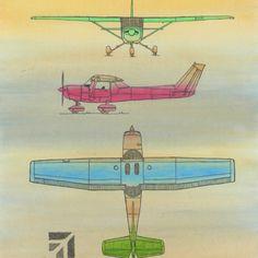Cessna 152 Mixed media elizenns.wordpress.com