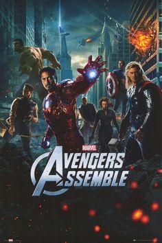 The Avengers Hulk Iron Man Thor Captain America Marvel Movie Poster New Avengers 2012, The Avengers, Avengers Film, Marvel Avengers Assemble, Poster Marvel, Marvel Movie Posters, Avengers Poster, Avengers Quotes, Thor