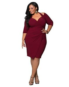 5cc27b3fec2 Curvy women cocktail dresses in many styles and colors for any special  occasion. Beautiful dress for curvy women. Forever Beauty Products by Lucy