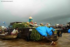 Mekong Delta - Cai rang floating market #Vietnam