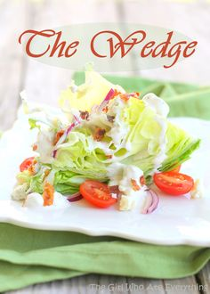 The Classic Wedge Salad | The Girl Who Ate Everything #stylelab | I like the weathered wood surface, but I don't like the graphic pasted on top. Remind me to tone my text down on photos.
