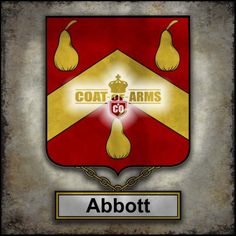 Abbott Family Crest - English Coat of Arms (GB)
