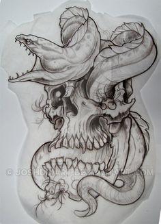 SkullnEel by JoshDixArt on DeviantArt